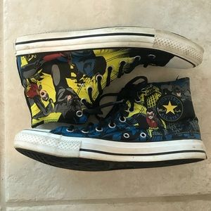 Vintage Converse All Stars Batman and Robin